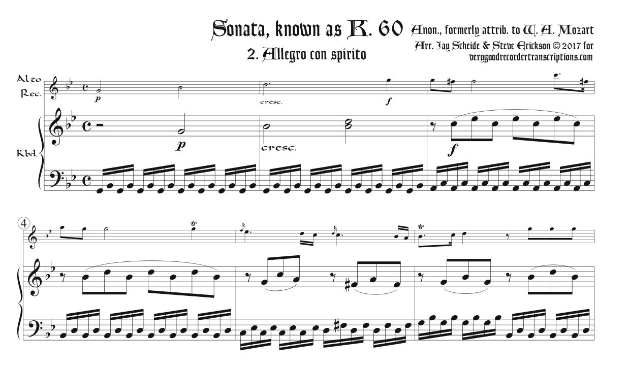 Sonata K. 60, formerly attributed to Mozart, 2nd Mvmt.