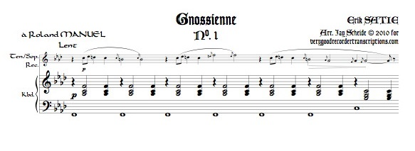 Gnossiennes 1-3 for Tenor or Soprano