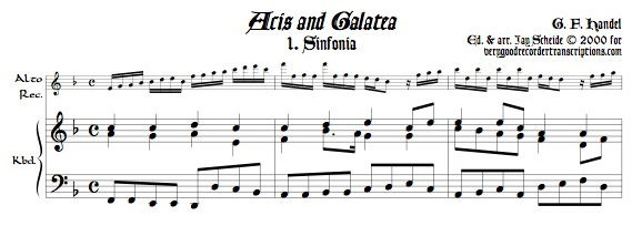 Sinfonia from *Acis and Galatea*