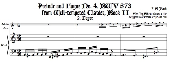 Fugue No. 4, BWV 873/2