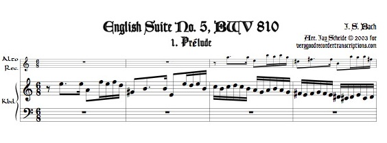 Four Mvmts. from English Suite No. 5, BWV 810