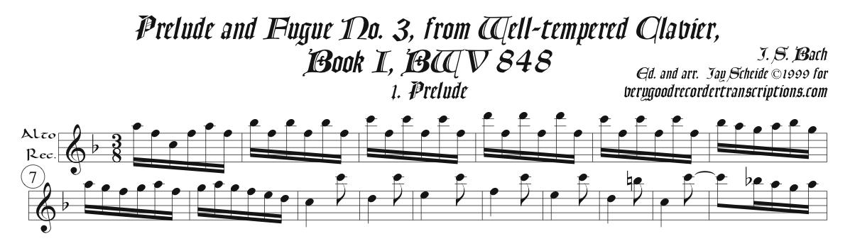 Solo recorder parts for all music in the Well-tempered Clavier and Keyboard Partita categories.  (Not necessary if you get the versions with keyboard.)