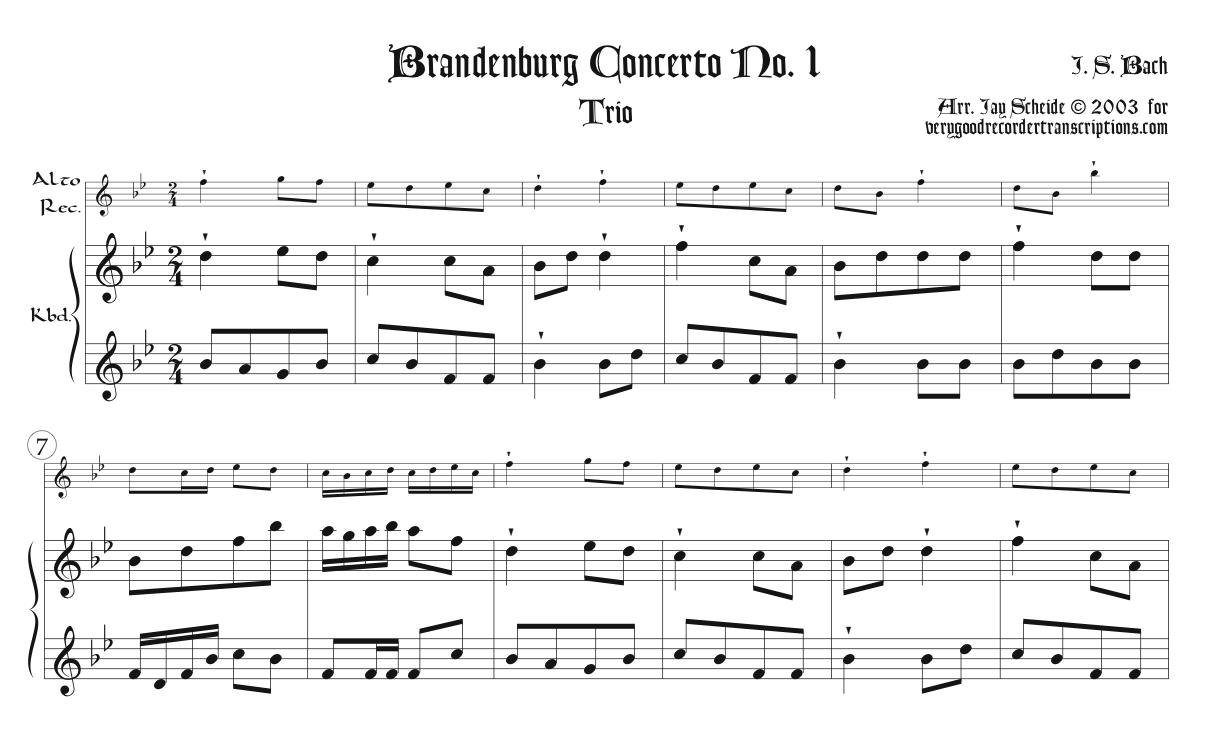 Trio from Brandenburg Concerto No. 1, BWV 1046