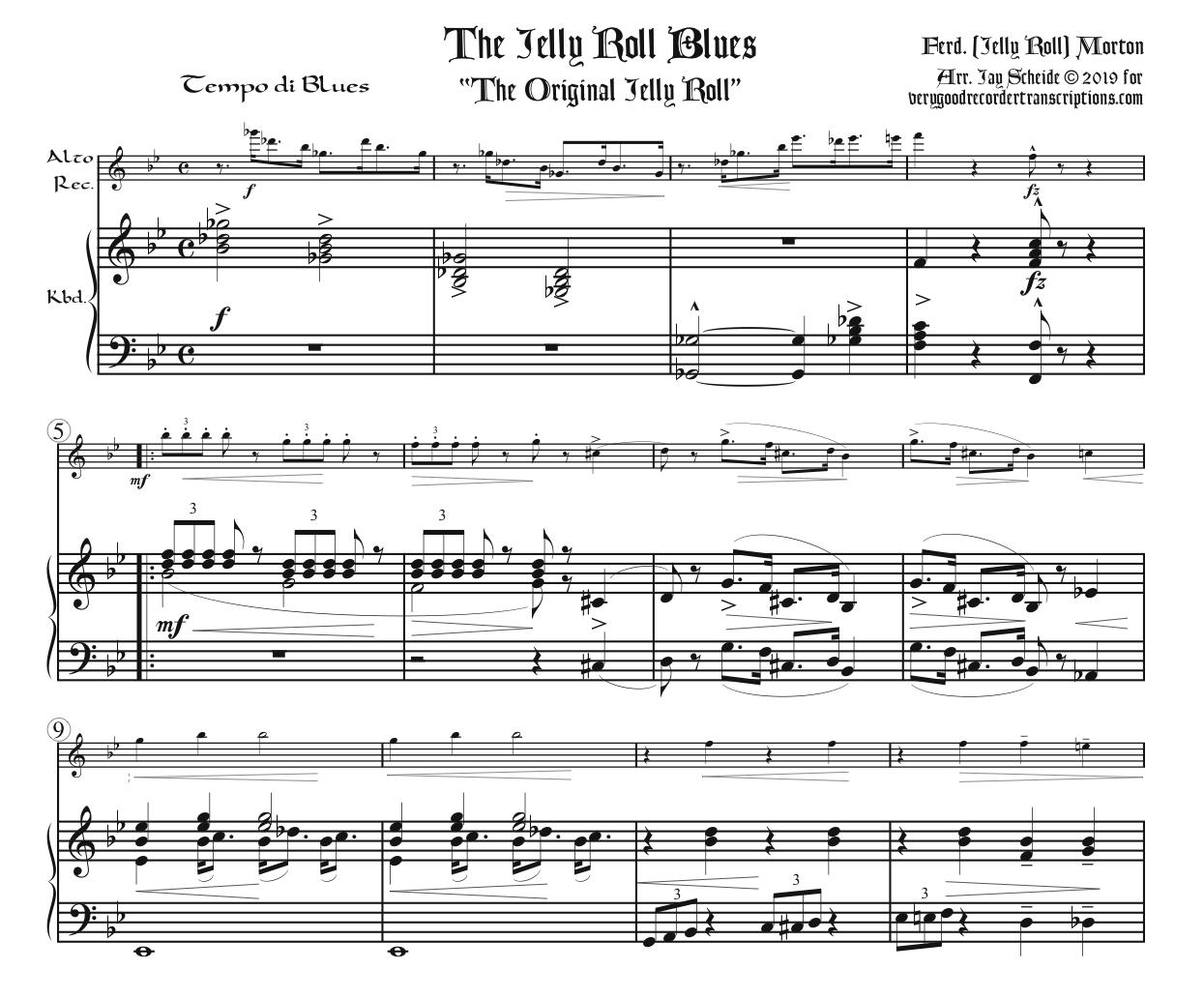 The Jelly Roll Blues