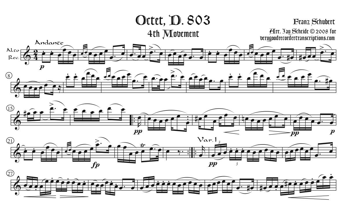 Theme & Variations from the Octet, D. 803